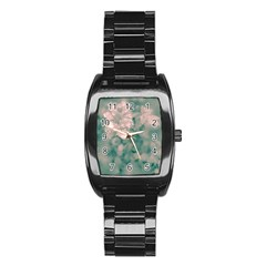 Surreal Floral Stainless Steel Barrel Watch by dflcprints