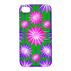 Stars Patterns Christmas Background Seamless Apple Iphone 4/4s Hardshell Case With Stand by Nexatart