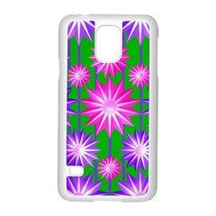 Stars Patterns Christmas Background Seamless Samsung Galaxy S5 Case (white) by Nexatart