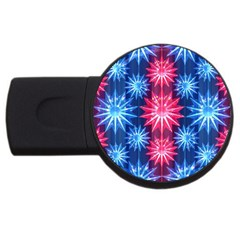 Stars Patterns Christmas Background Seamless USB Flash Drive Round (2 GB) by Nexatart