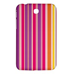 Stripes Colorful Background Pattern Samsung Galaxy Tab 3 (7 ) P3200 Hardshell Case