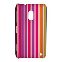 Stripes Colorful Background Pattern Nokia Lumia 620 by Nexatart