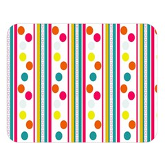 Stripes Polka Dots Pattern Double Sided Flano Blanket (large)  by Nexatart