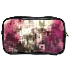 Stylized Rose Pattern Paper, Cream And Black Toiletries Bags 2 Side by Nexatart