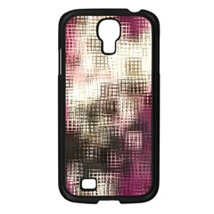 Stylized Rose Pattern Paper, Cream And Black Samsung Galaxy S4 I9500/ I9505 Case (black) by Nexatart