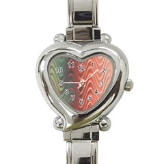 Texture Digital Painting Digital Art Heart Italian Charm Watch by Nexatart