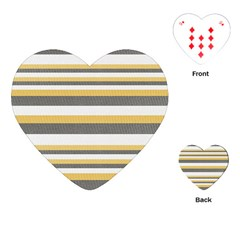 Textile Design Knit Tan White Playing Cards (heart)  by Nexatart