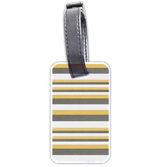 Textile Design Knit Tan White Luggage Tags (one Side)  by Nexatart
