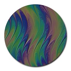 Texture Abstract Background Round Mousepads