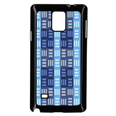 Textile Structure Texture Grid Samsung Galaxy Note 4 Case (black)