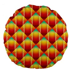 The Colors Of Summer Large 18  Premium Flano Round Cushions by Nexatart