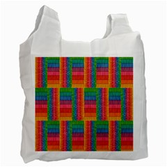 Texture Surface Rainbow Festive Recycle Bag (Two Side)  by Nexatart