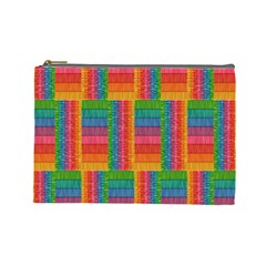 Texture Surface Rainbow Festive Cosmetic Bag (large)  by Nexatart