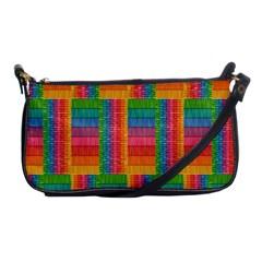 Texture Surface Rainbow Festive Shoulder Clutch Bags by Nexatart