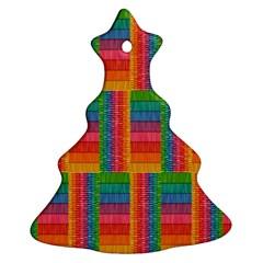 Texture Surface Rainbow Festive Ornament (christmas Tree)  by Nexatart