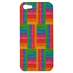 Texture Surface Rainbow Festive Apple Iphone 5 Hardshell Case by Nexatart