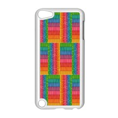 Texture Surface Rainbow Festive Apple Ipod Touch 5 Case (white) by Nexatart