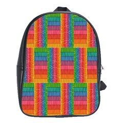 Texture Surface Rainbow Festive School Bags (xl)  by Nexatart