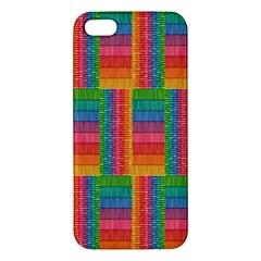 Texture Surface Rainbow Festive Iphone 5s/ Se Premium Hardshell Case by Nexatart
