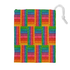 Texture Surface Rainbow Festive Drawstring Pouches (extra Large) by Nexatart