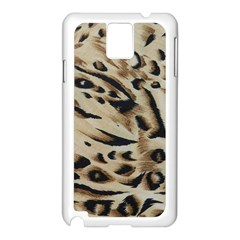 Tiger Animal Fabric Patterns Samsung Galaxy Note 3 N9005 Case (white)