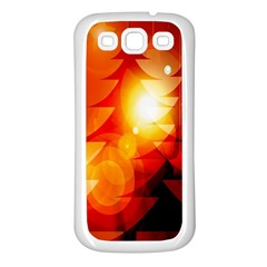 Tree Trees Silhouettes Silhouette Samsung Galaxy S3 Back Case (white)