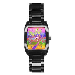 Tree Colorful Mystical Autumn Stainless Steel Barrel Watch by Nexatart