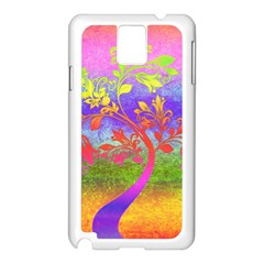 Tree Colorful Mystical Autumn Samsung Galaxy Note 3 N9005 Case (white) by Nexatart