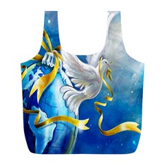 Turtle Doves Christmas Full Print Recycle Bags (l)  by Nexatart