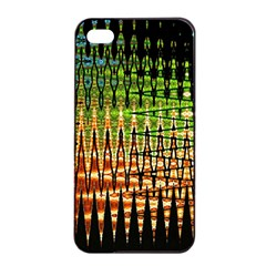 Triangle Patterns Apple Iphone 4/4s Seamless Case (black) by Nexatart