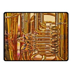 Tuba Valves Pipe Shiny Instrument Music Double Sided Fleece Blanket (Small)  by Nexatart