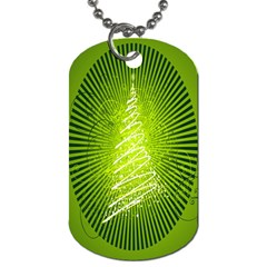 Vector Chirstmas Tree Design Dog Tag (one Side)