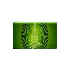 Vector Chirstmas Tree Design Cosmetic Bag (xs) by Nexatart