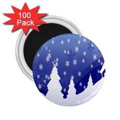 Vector Christmas Design 2 25  Magnets (100 Pack)  by Nexatart