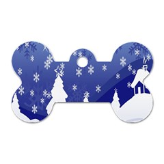 Vector Christmas Design Dog Tag Bone (two Sides) by Nexatart
