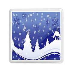 Vector Christmas Design Memory Card Reader (square)  by Nexatart