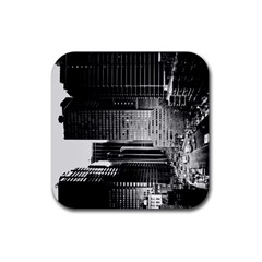Urban Scene Street Road Busy Cars Rubber Square Coaster (4 Pack)  by Nexatart