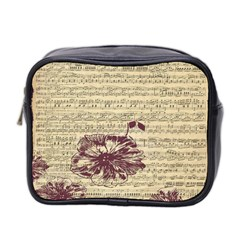Vintage Music Sheet Song Musical Mini Toiletries Bag 2 Side by Nexatart