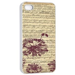 Vintage Music Sheet Song Musical Apple Iphone 4/4s Seamless Case (white) by Nexatart