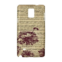 Vintage Music Sheet Song Musical Samsung Galaxy Note 4 Hardshell Case by Nexatart