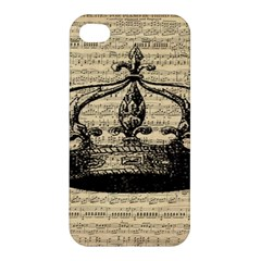 Vintage Music Sheet Crown Song Apple Iphone 4/4s Hardshell Case by Nexatart