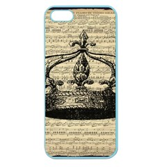 Vintage Music Sheet Crown Song Apple Seamless Iphone 5 Case (color) by Nexatart