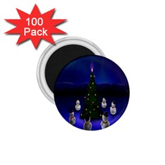 Waiting For The Xmas Christmas 1 75  Magnets (100 Pack)  by Nexatart