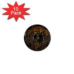 Virus Computer Encryption Trojan 1  Mini Magnet (10 Pack)
