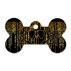 Virus Computer Encryption Trojan Dog Tag Bone (one Side) by Nexatart