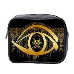 Virus Computer Encryption Trojan Mini Toiletries Bag 2 Side