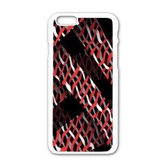 Weave And Knit Pattern Seamless Apple Iphone 6/6s White Enamel Case by Nexatart