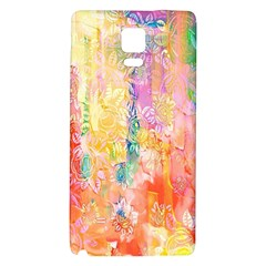 Watercolour Watercolor Paint Ink Galaxy Note 4 Back Case by Nexatart