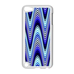 Waves Wavy Blue Pale Cobalt Navy Apple iPod Touch 5 Case (White) by Nexatart
