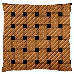 Wood Texture Weave Pattern Large Flano Cushion Case (two Sides) by Nexatart